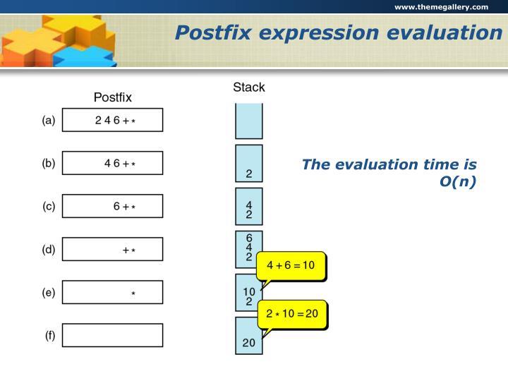 Postfix expression evaluation