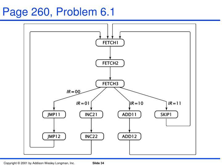 Page 260, Problem 6.1