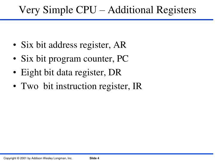 Very Simple CPU – Additional Registers