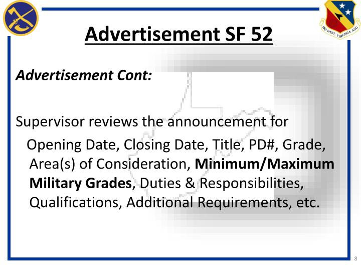 Advertisement SF 52