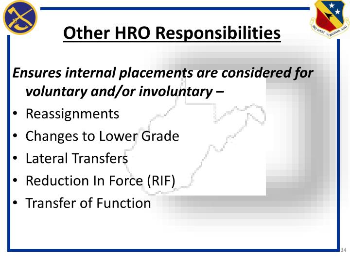 Other HRO Responsibilities