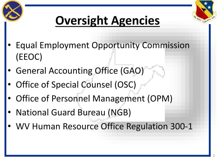 Oversight Agencies