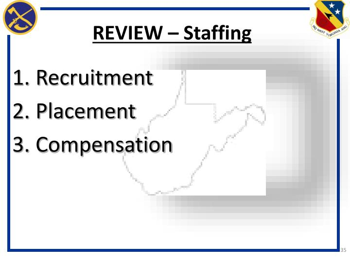 REVIEW – Staffing