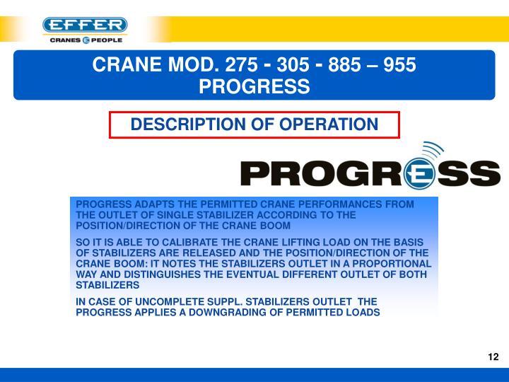 CRANE MOD. 275
