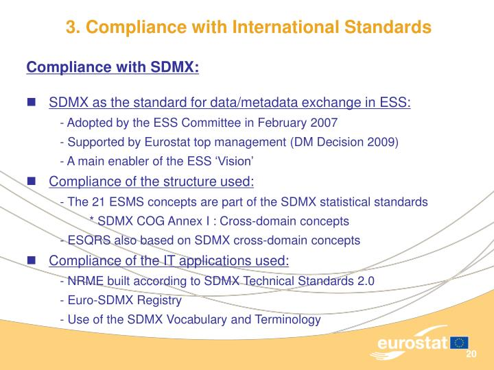 3. Compliance with International Standards