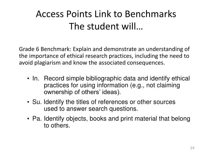 Access Points Link to Benchmarks
