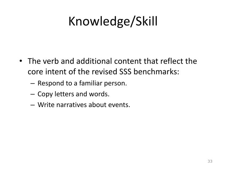 Knowledge/Skill