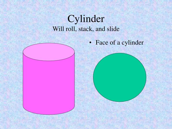 Cylinder will roll stack and slide