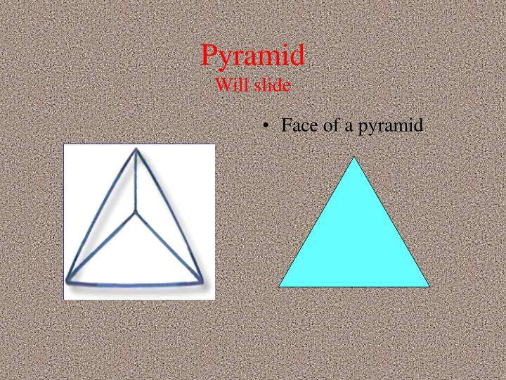 Face of a pyramid