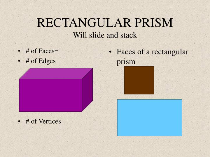 Rectangular prism will slide and stack
