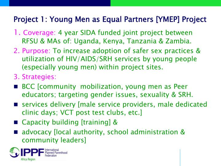 Project 1: Young Men as Equal Partners [YMEP] Project