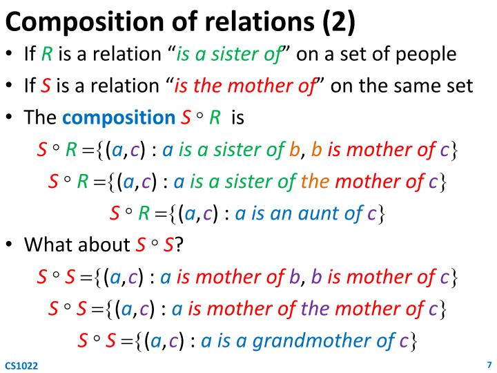 Composition of relations (2)