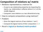 composition of relations w matrix