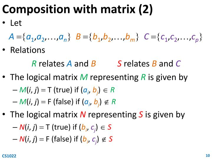 Composition with matrix (2)