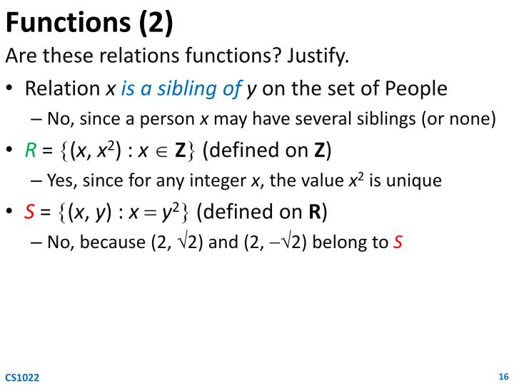 Functions (2)