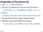 properties of functions 1