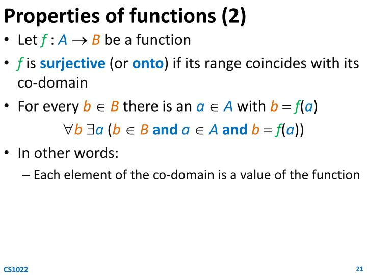 Properties of functions (2)
