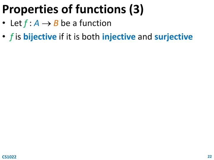 Properties of functions (3)