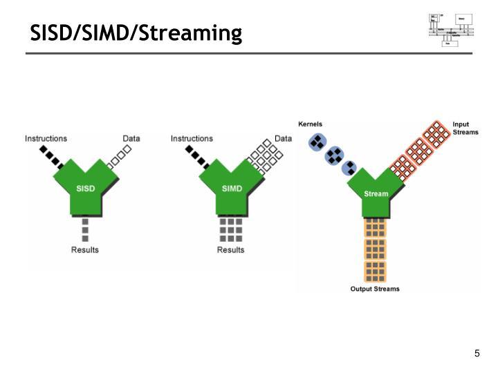 SISD/SIMD/Streaming