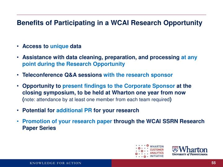 Benefits of Participating in a WCAI Research Opportunity