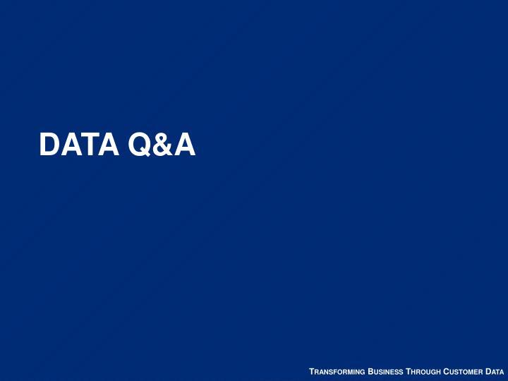 DATA Q&A