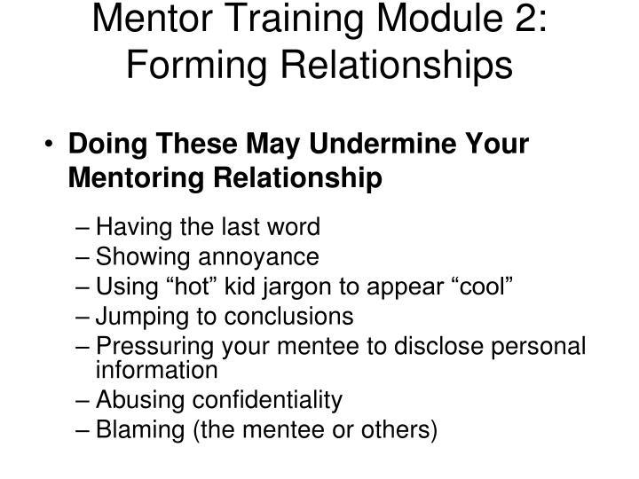 Mentor Training Module 2: