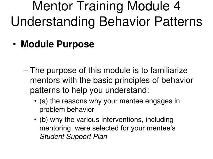 Mentor Training Module 4