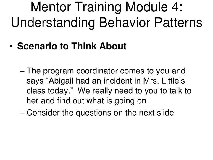 Mentor Training Module 4: