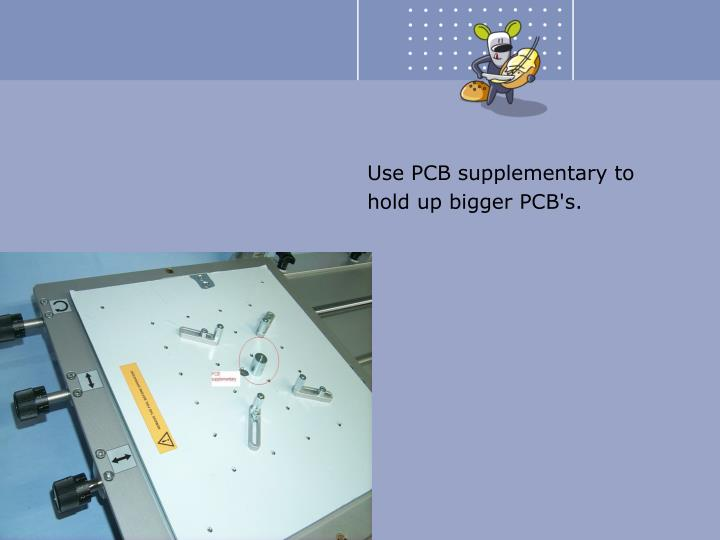 Use PCB supplementary to