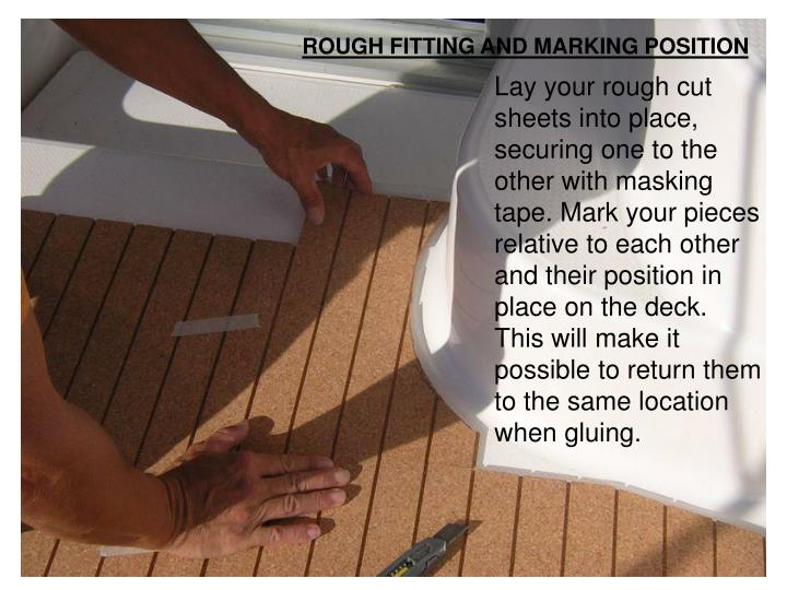 ROUGH FITTING AND MARKING POSITION