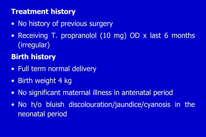 Treatment history