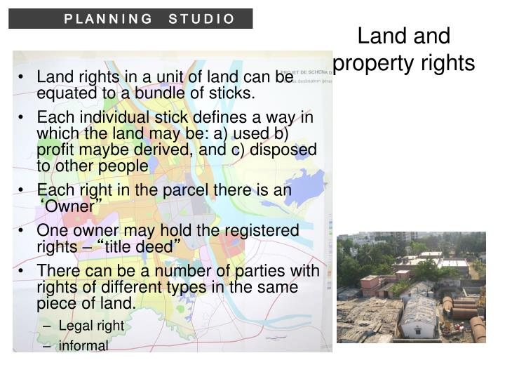 Land and property rights