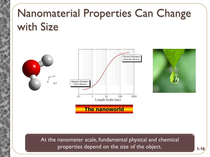 Nanomaterial Properties Can Change with Size
