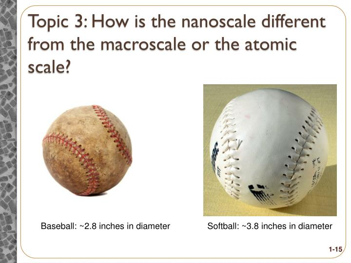 Topic 3: How is the nanoscale different from the