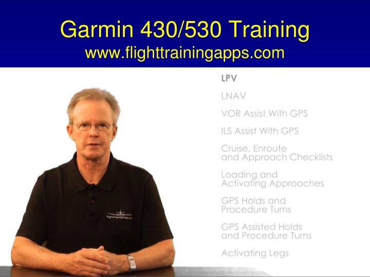 Garmin 430/530 Training