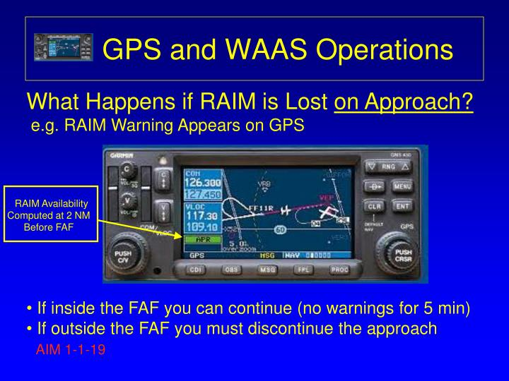 GPS and WAAS Operations
