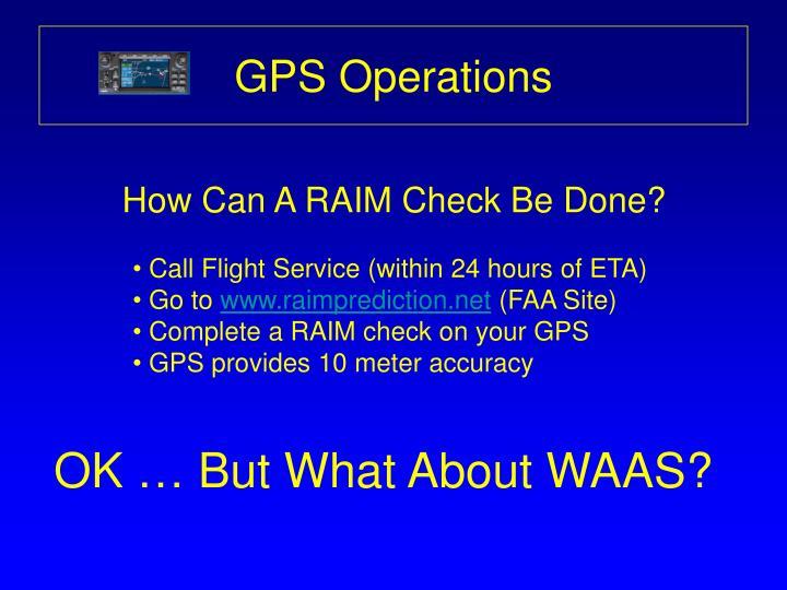 GPS Operations