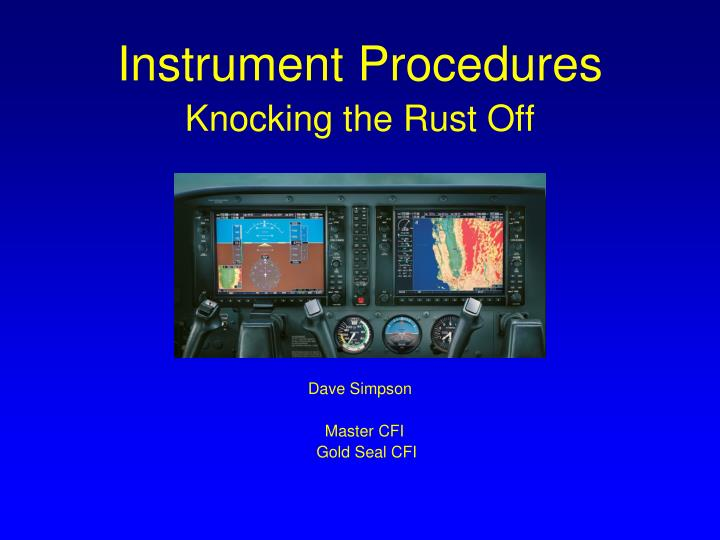 Instrument Procedures