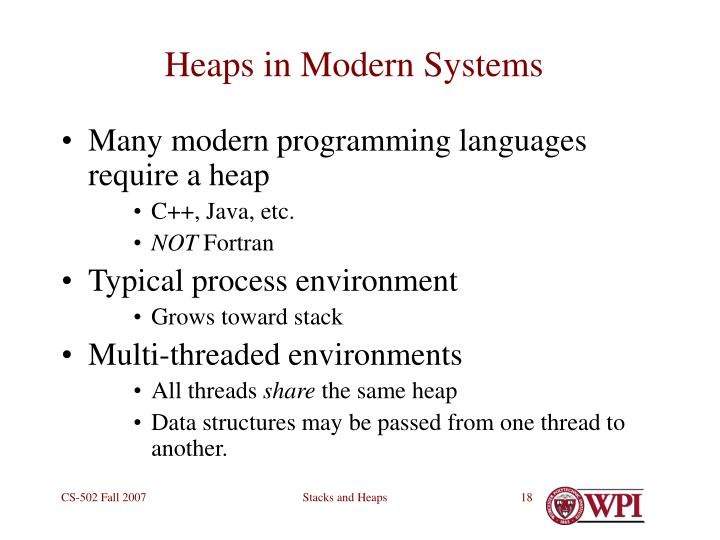 Heaps in Modern Systems