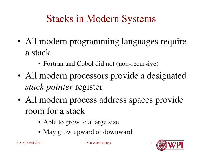 Stacks in Modern Systems