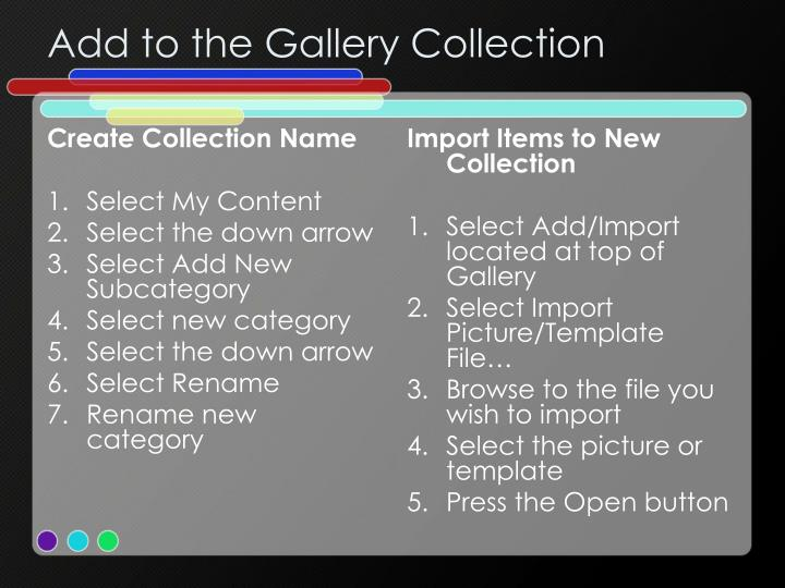 Create Collection Name