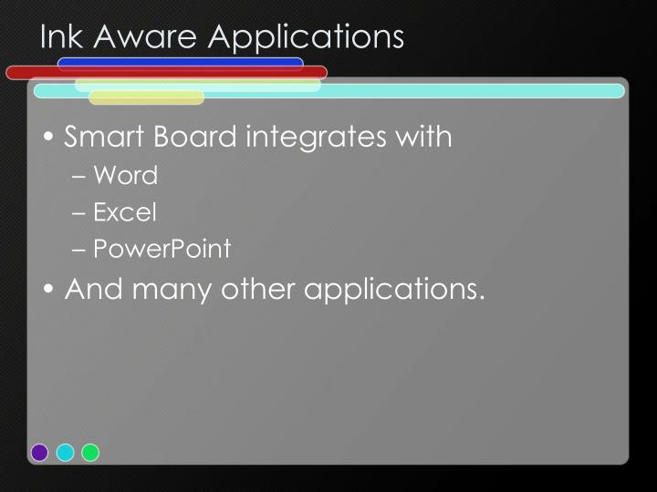 Ink Aware Applications