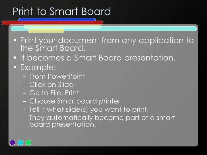 Print to Smart Board