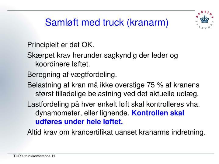 Samløft med truck (kranarm)