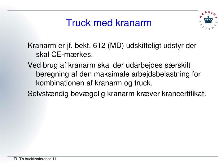 Truck med kranarm