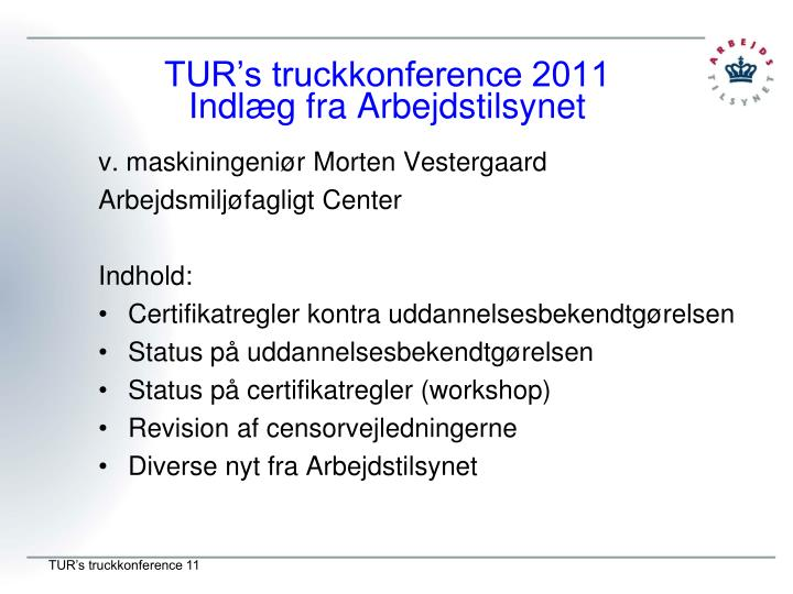 TUR's truckkonference 2011