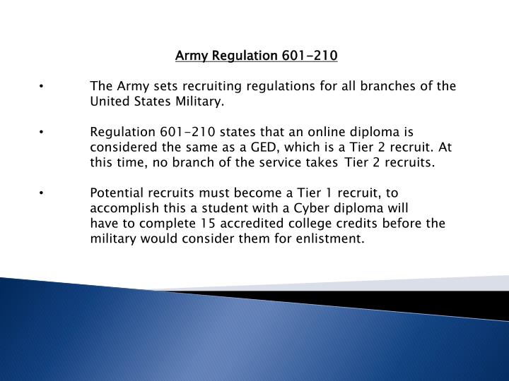 Army Regulation 601-210