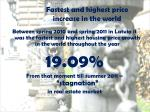 fastest and highest price increase in the world