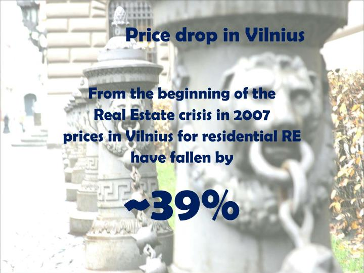 Price drop in Vilnius