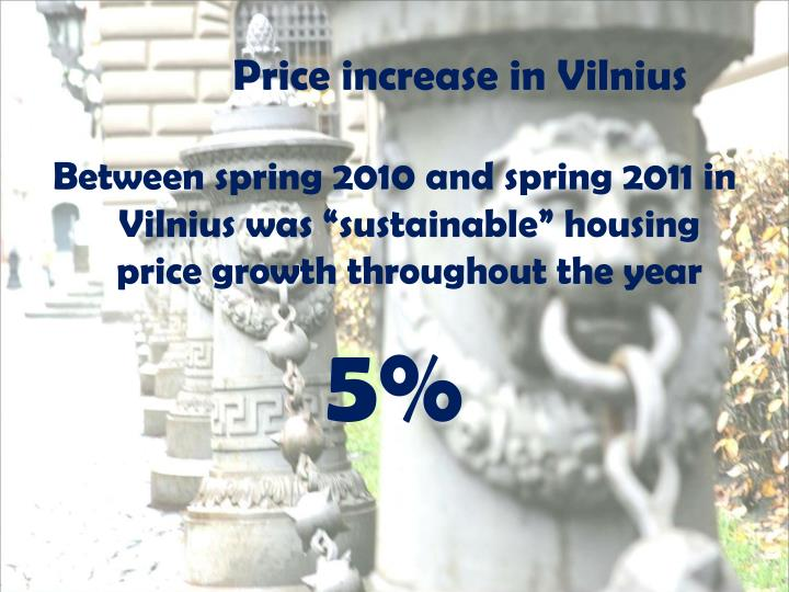 Price increase in Vilnius